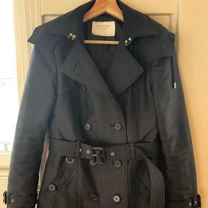 Zara Peacoat Size M Black